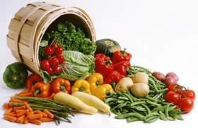 barrel of vegetables on the healthy food list