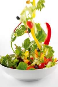 falling vegetable salad