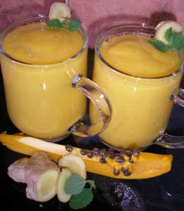 indigestion home remedy papaya ginger banana smoothie