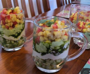 Mexican Layer Salad plus kids version