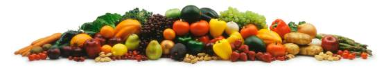 raw fruit vegetables and nuts sprawl