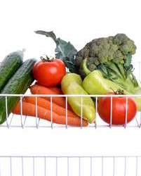 vegetables in fridge