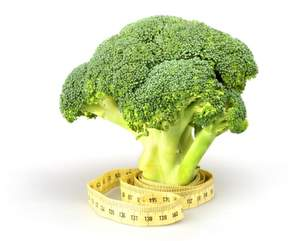 broccoli with tape measure