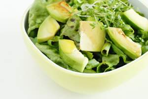 green avocado salad