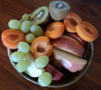 healthy breakfast menu of fruit
