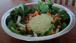 avocado, cucumber, lemon and chilli salad dressing